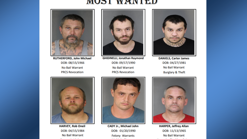 Humboldt County Sheriff's Office releases list of 'North Area' most