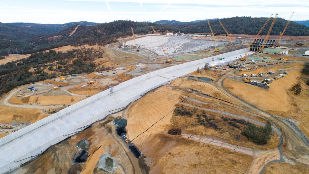 DWR: Oroville Dam main spillway reconstruction complete, ready for
