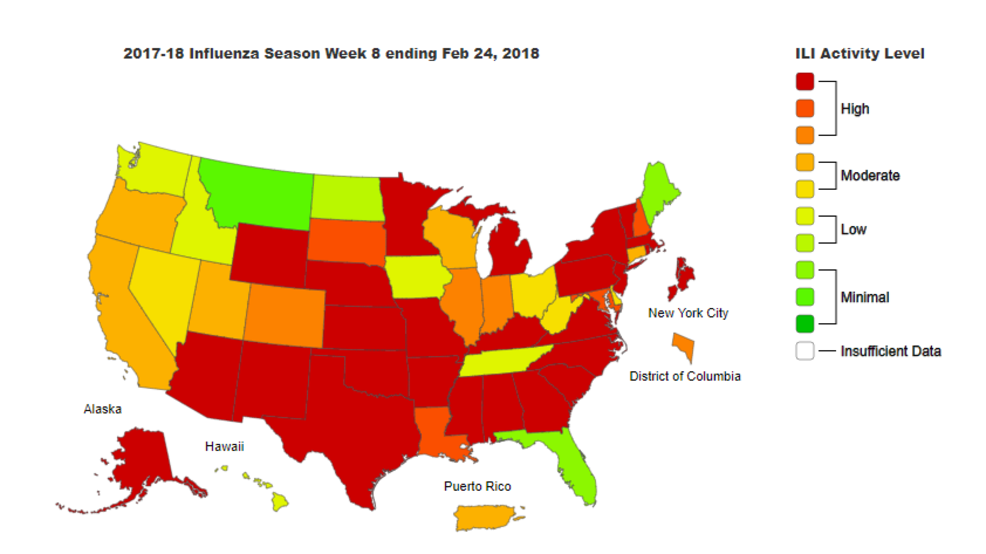 Flu Update: 114 pediatric s but some positive signs overall | KRCR on