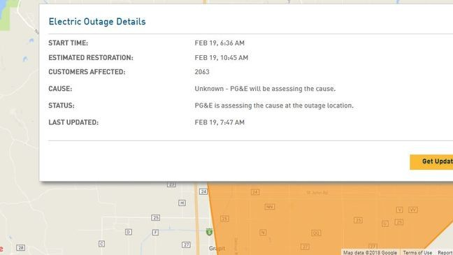 Update 1 620 Pg E Customers Without Power In Glenn County Krcr