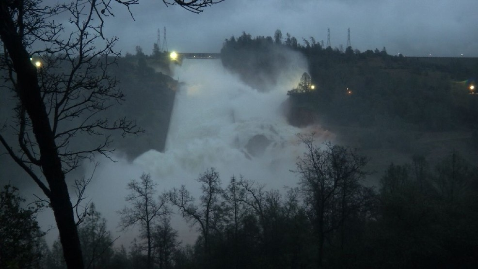 Oroville Dam less than 5 feet from top | KRCR