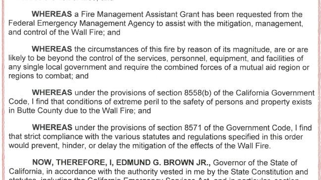 Gov  Brown declares state of    | KRCR